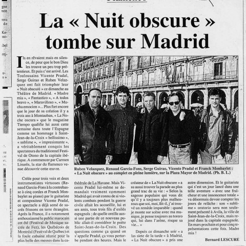 Nuit Obscure Madrid